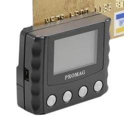 Promag MSR120 - Portable Magnetic Stripe Data Collector - Portable magnetic stripe reader with LCD for data collection / verification