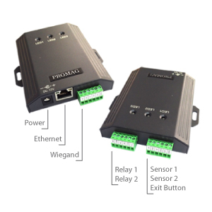 Promag AC101 Ethernet Access Controller - 2 Door Access Management,Supports 2 Readers, 2 Relays & 2 Sensors