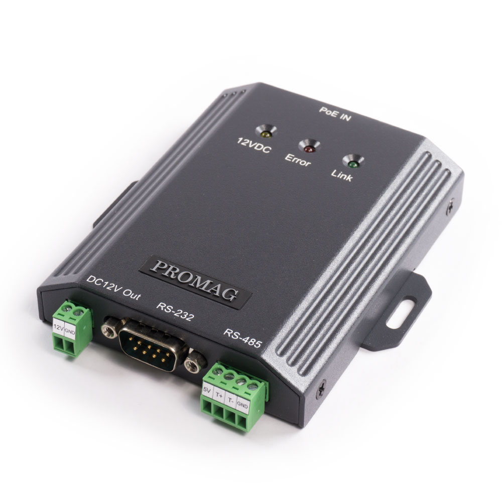 Promag PDS200 - Serial to PoE Ethernet Converter - 2 in 1 - RS232/RS485 to Ethernet Converter and PoE Splitter
