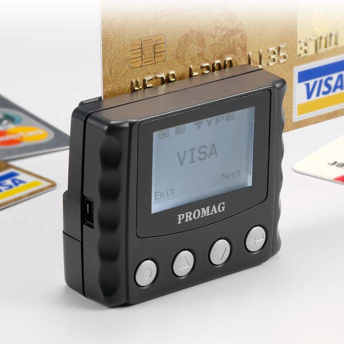 Promag MSR999 - Payment Card Verifier - MSR999 Payment Card Verifier is designed to check credit/debit cards anytime & anywhere without computer or web connectivity.